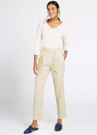 Льняные(полотняные) штаны,брюки в полоску, большой размер, mar...