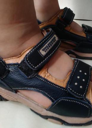 Кожаные сандалии босоножки на мальчика 26-33 р.