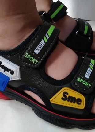 Стильные яркие сандалии босоножки на мальчика 27,28,30 размер