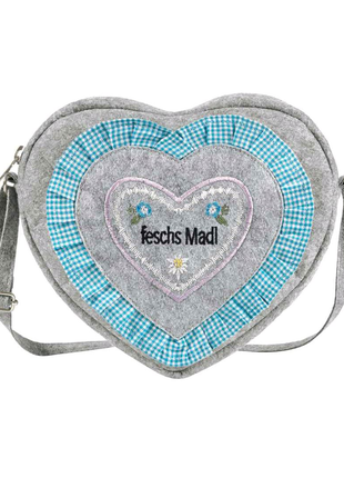 фетровая сумочка в стиле кантри, сумка на длинном ремешке