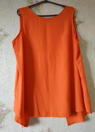 Коралловая блузка с открытой спиной f&f