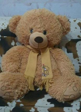 Мягкая большая плюшевая игрушка мишка медведь медвежонок