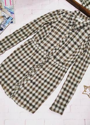 #розвантажусь стильная рубашка блузка в клетку