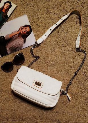 Parfois сумка стеганая в стиле шанель/ ручка на цепочке