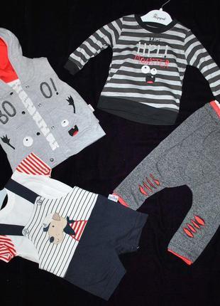 Два комплекта!! 5 в 1 лот одежды для мальчика 6-12 мес летний ...