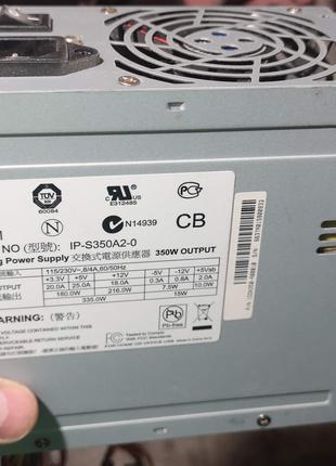 Блок питания ATX 350W Power Man IP-S350A2-0
