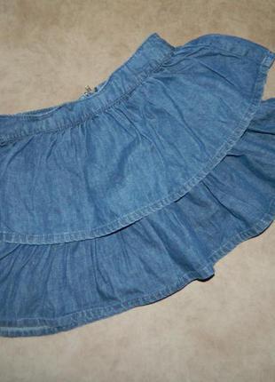 Юбка детская джинсовая на девочку 8-9 лет george
