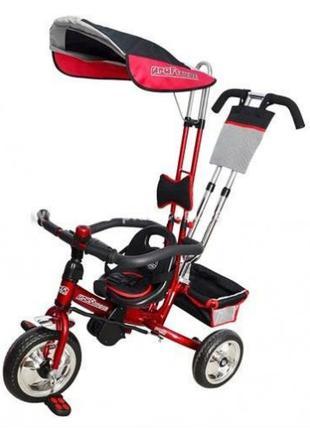 Детский трехколесный велосипед M 0450-5 PROFI-TRIKE с ручкой EVA