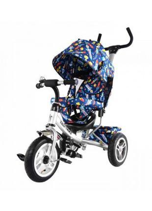 Велосипед трехколесный TILLY Trike T-351-10 БЕЛЫЙ с большими наду