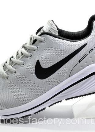 Мужские кроссовки Nike Zoom Flykit Racer, Серые, купить со ски...