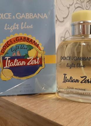 !оригинал!125мл dolce&gabbana light blue italian zest pour hom...