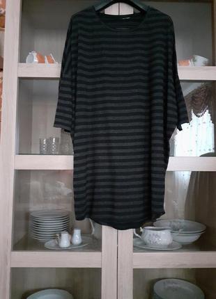 Стильное вискозное платье туника большого размера