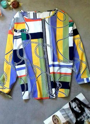 Красивейшая блузка принт цепи
