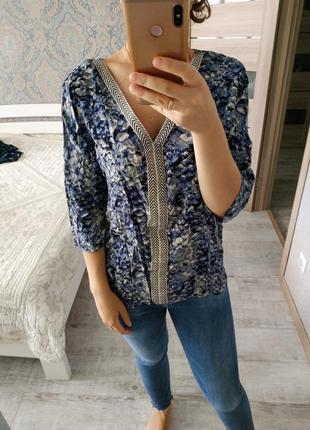 Новая с биркой легкая вискозная блуза оверсайз