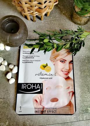 Тканевая маска для лица с гиалуроновой кислотой iroha