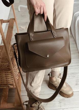 Вместительная сумка шоппер с карманом