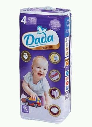 Подгузники DADA Premium 4maxi 50штук