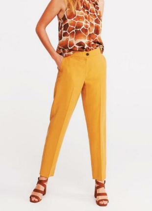 Качественные женские деми прямые брюки со стрелками высокой та...