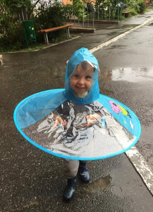 Парасолька дощовик плащ для дітей від 2 до 6 дет Свинка Пеппа