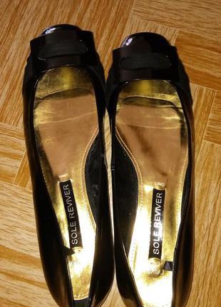 Стильные лаковые туфли балетки next sole reviver, 38.5 размер