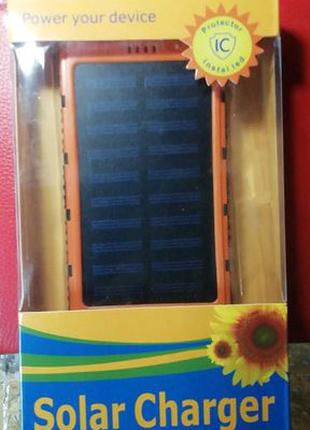 PowerBank Solar 20000mAh мощный фонарь с солнеч. батареейОплат...