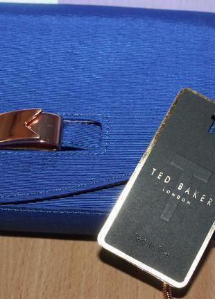 Шикарный стильный брендовый синий клатч ted baker