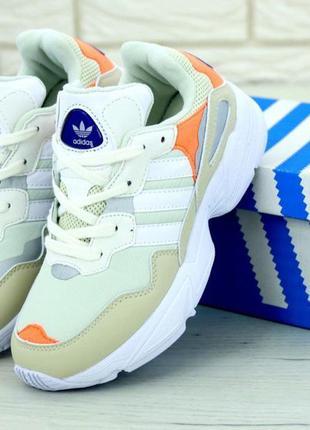 Мужские кроссовки adidas yung-1 yung 96 white/orange.