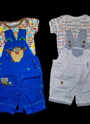 Комплект боди лот костюм для новорожденного 2-6 мес штаны