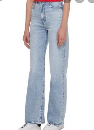 Женские голубые джинсыduran с высокой посадкой.