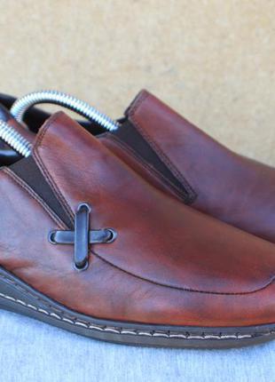 Туфли rieker кожа германия 38р мокасины лоферы