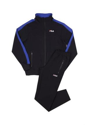 Мужской спортивный костюм чёрно-синего цвета
