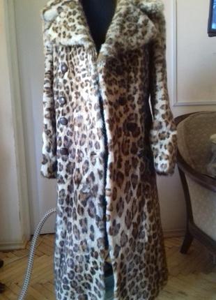 Шуба пальто с меха леопарда)натуральная.