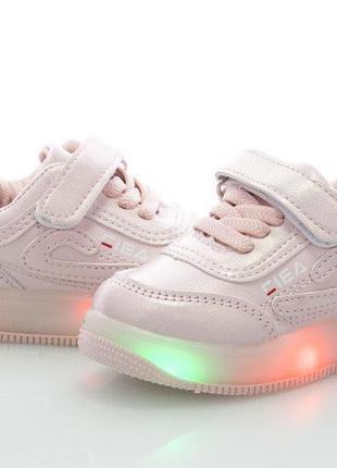 Розовые мигающие кроссовки-моргалки для девочки с супинатором ...