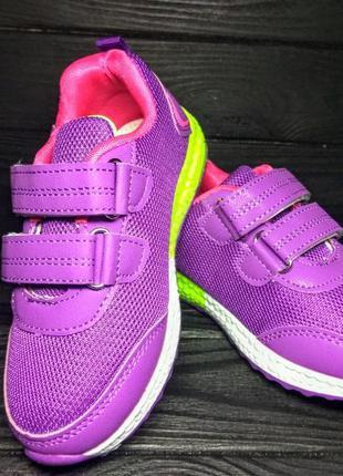 Яркие кроссовки для девочки на липучках р.30-32 наложка обмен ...