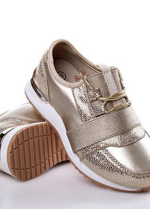 Золотые кроссовки для девочки наложка обмен возврат