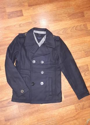 Драповый пиджак бомбер tommy hilfiger 152