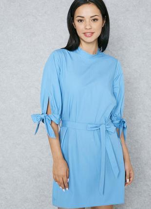 Роскошное платье с завязками 100% хлопок topshop ms726