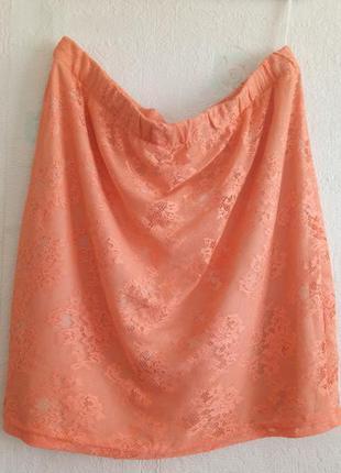 Распродажа ! кружевная летняя юбка большой размер