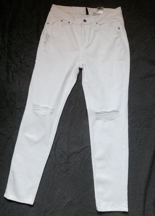 Стильные  белые джинсы бойфренды💜 джинсы h&m