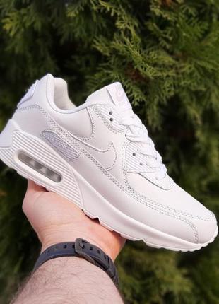 Nike air max 90 white белые ♦ женские кроссовки ♦ весна лето о...