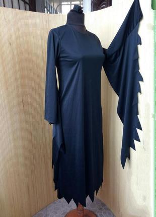 Черное платье туника / карнавальный костюм