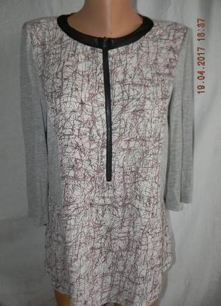 Оригинальная блуза с шифоновыми вставками и молнией