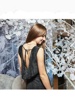 Вечернее/ коктейльное серебристое платье rare