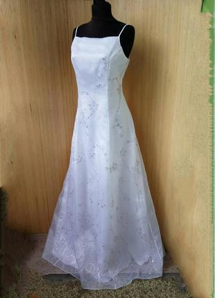 Белое вечернее / свадебное платье с открытой спиной chelsea