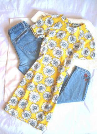 Яркое жёлтое платье в цветы innocence