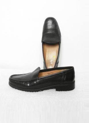 Черные  кожаные туфли германия