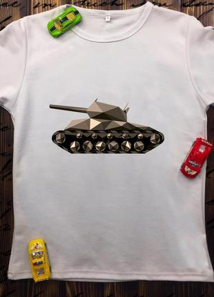 Мужская футболка с принтом - танк