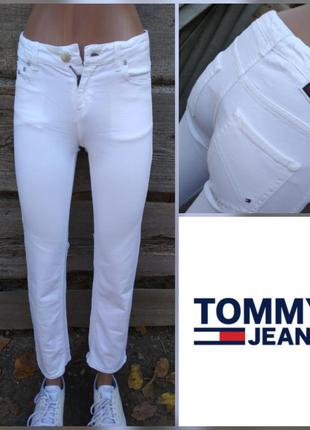 Белые джинсы на подростка tommy hilfiger
