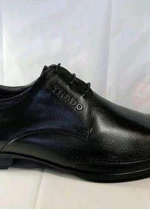 <<Кожаные туфли STRADO, стиль комфорт.39,40,41,44,45.