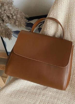 Лаконичная рыжая сумка